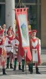 Μεσαιωνικοί φορείς σημαιών Στοκ εικόνες με δικαίωμα ελεύθερης χρήσης