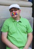 Συμμετέχων παρελάσεων υπερηφάνειας LGBT στην πόλη της Νέας Υόρκης Στοκ Εικόνες