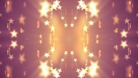 Συμμετρική λαμπρή αστεριών τυχαία κινούμενη εξασθενίζοντας νέα ποιοτική εκλεκτής ποιότητας καθολική κίνηση ζωτικότητας υποβάθρου  απεικόνιση αποθεμάτων