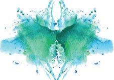 συμμετρικός λεκές Rorschach watercolor Στοκ Εικόνα