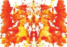 συμμετρικός λεκές Rorschach watercolor Στοκ Εικόνες