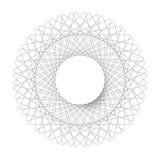 Συμμετρικός κύκλος μορφή κύκλων αραβουργήματος επίσης corel σύρετε το διάνυσμα απεικόνισης Στοκ φωτογραφία με δικαίωμα ελεύθερης χρήσης