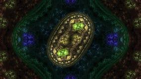 Συμμετρικό λουλούδι - fractal σχέδιο τέχνης απόθεμα βίντεο