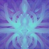 Συμμετρικό χρώμα υποβάθρου κυανός και ιώδης απεικόνιση αποθεμάτων