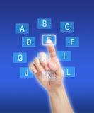 Συμπίεση στα κλειδιά αλφάβητου Στοκ Φωτογραφίες