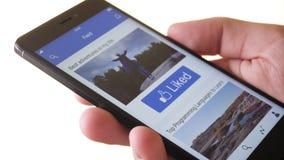 Συμπίεση όπως το κουμπί στα κοινωνικά μέσα στα κοινωνικά μέσα app απόθεμα βίντεο