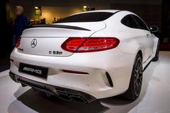 Συμπαγές αυτοκίνητο Mercedes-AMG C63 S Coupe, 2016 πολυτέλειας Στοκ Φωτογραφίες