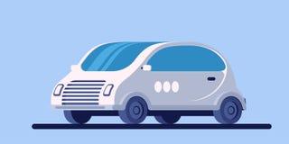 Συμπαγές μίνι αυτοκίνητο Μικρή ηλεκτρική μηχανή Μελλοντικό όχημα απεικόνιση αποθεμάτων