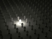 συμπαγές φθορισμού φως βολβών Στοκ Φωτογραφία