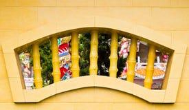 Συμπαγής τοίχος ενός κινεζικού ναού. Στοκ Φωτογραφίες