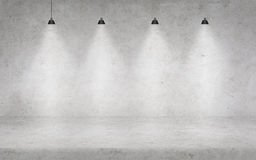 Συμπαγής τοίχος με τα φω'τα Στοκ εικόνα με δικαίωμα ελεύθερης χρήσης