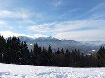 συμπαθητική ταπετσαρία χιονιού βουνών ανασκόπησης Στοκ Εικόνες