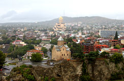 συμπαθητική όψη του Tbilisi Στοκ εικόνες με δικαίωμα ελεύθερης χρήσης