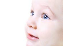 συμπαθητικός επάνω προσώπου μωρών στενός στοκ εικόνα με δικαίωμα ελεύθερης χρήσης