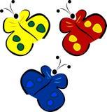 συμπαθητικό διάνυσμα πεταλούδων Στοκ Φωτογραφίες