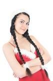 συμπαθητικό κόκκινο κοριτσιών φορεμάτων Στοκ Φωτογραφίες