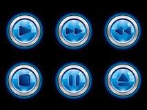 συμπαθητικό σύνολο παιχνιδιού μέσων κουμπιών διανυσματική απεικόνιση