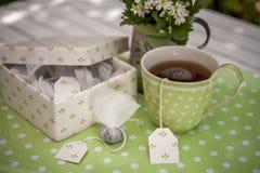 συμπαθητικό τσάι φλυτζαν&io Στοκ εικόνα με δικαίωμα ελεύθερης χρήσης