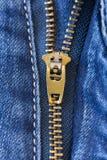 συμπαθητικό φερμουάρ τζιν παντελόνι ανασκόπησης Στοκ Εικόνα