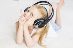 Συμπαθώ ακούω μουσική Στοκ Εικόνες