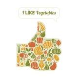Συμπαθώ τα λαχανικά ελεύθερη απεικόνιση δικαιώματος