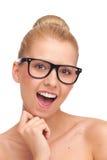 Συμπαθώ τα νέα γυαλιά μου. Στοκ Φωτογραφίες