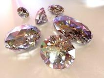 συμπεριλαμβανόμενο διαμάντια μονοπάτι Στοκ φωτογραφία με δικαίωμα ελεύθερης χρήσης