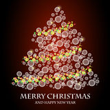 συμπεριλαμβανόμενο διάνυσμα δέντρων Χριστουγέννων eps8 Στοκ Φωτογραφίες