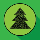 συμπεριλαμβανόμενο διάνυσμα δέντρων Χριστουγέννων eps8 απεικόνιση αποθεμάτων
