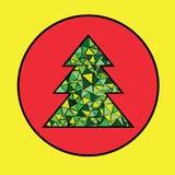 συμπεριλαμβανόμενο διάνυσμα δέντρων Χριστουγέννων eps8 Στοκ εικόνα με δικαίωμα ελεύθερης χρήσης
