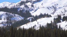 Συμπιεσμένος χιονοδρομικό κέντρο πυροβολισμός απόθεμα βίντεο