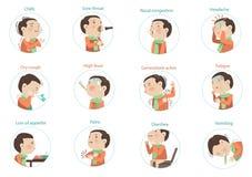 Συμπτώματα γρίπης διανυσματική απεικόνιση