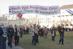 συμπόνοια απεργίας κυβερνητικής ουγγρική στιλβωτικής ουσίας Στοκ Φωτογραφίες