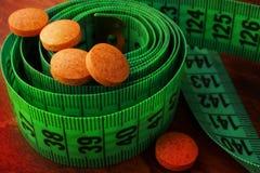 Συμπληρώματα απώλειας βάρους στοκ εικόνα με δικαίωμα ελεύθερης χρήσης
