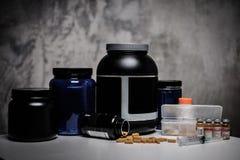 Συμπληρώματα διατροφής Bodybuilding, χημεία στοκ εικόνες με δικαίωμα ελεύθερης χρήσης