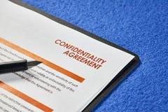Συμφωνία εμπιστευτικότητας στοκ εικόνες