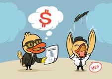 Συμφωνία επιχειρηματιών παπιών Στοκ φωτογραφία με δικαίωμα ελεύθερης χρήσης