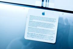 Συμφωνία λογισμικού lap-top της Apple MacBook Pro Στοκ εικόνες με δικαίωμα ελεύθερης χρήσης