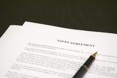 Συμφωνία πωλήσεων Στοκ Φωτογραφίες