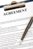 Συμφωνία σε μια περιοχή αποκομμάτων Στοκ Εικόνες