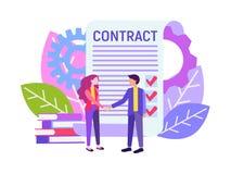 Συμφωνία συνέταιρων απεικόνιση αποθεμάτων