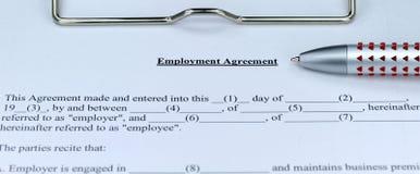 συμφωνία employmeny Στοκ φωτογραφία με δικαίωμα ελεύθερης χρήσης