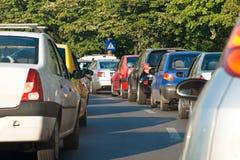 Συμφόρηση ώρας κυκλοφοριακής αιχμής Στοκ φωτογραφία με δικαίωμα ελεύθερης χρήσης