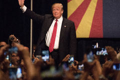 Συνάθροιση εκστρατείας του Ντόναλντ Τραμπ πρώτη προεδρική στο Phoenix Στοκ φωτογραφίες με δικαίωμα ελεύθερης χρήσης