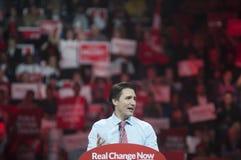 Συνάθροιση εκλογής του Justin Trudeau στοκ φωτογραφίες