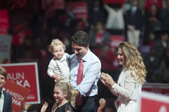 Συνάθροιση εκλογής του Justin Trudeau στοκ εικόνες με δικαίωμα ελεύθερης χρήσης