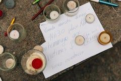 Συνάθροιση μαζικής ενότητας που διοργανώνεται στο Στρασβούργο μετά από τον πρόσφατο τρομοκράτη α Στοκ εικόνα με δικαίωμα ελεύθερης χρήσης