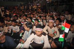 Συνάθροιση που υποστηρίζει την Παλαιστίνη στην Ινδονησία Στοκ Φωτογραφία
