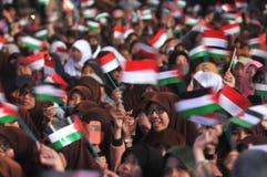 Συνάθροιση που υποστηρίζει την Παλαιστίνη στην Ινδονησία Στοκ Εικόνα