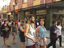 Συνάθροιση σε gijà ³ ν Ισπανία ενάντια στην ταυρομαχία στοκ εικόνες